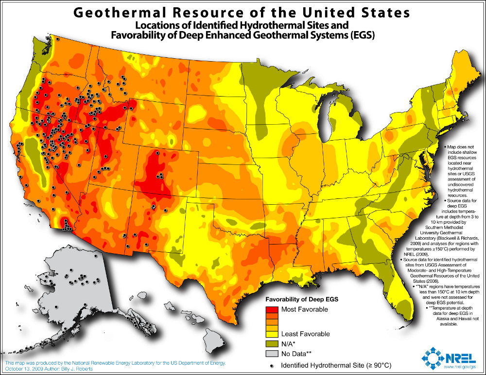 United States Geothermal Resource Availability